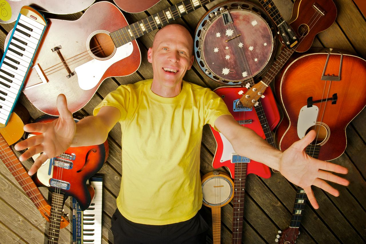 Musician Chris Ballew performs as Caspar Babypants